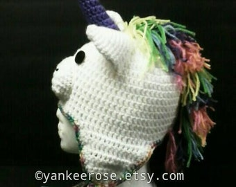 Unicorn Crochet Hat Pattern in Sizes Toddler to XL Adult - Fantasy - Cosplay