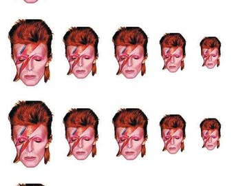 David Bowie Nail Decals // Aladdin Sane // Pop Culture Icon // Rock and Roll
