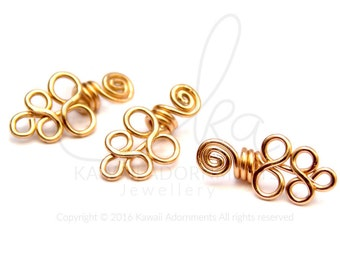 Mini Loc Jewelry 14K Gold Filled wire x 3 / Grape Coils / hair accessories will fit Sisterlocks™ / microlocs / 2mm or 3mm hole