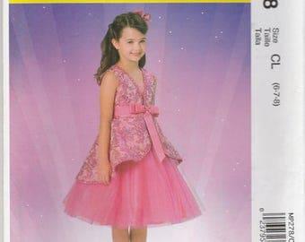 Girls Princess Dress & Fairy Wings Pattern McCalls MP278 4887 Sizes 6 - 8 Uncut