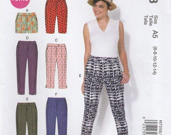 Skinny Pants & Shorts Pattern McCalls 7098 Sizes 6 - 14 Uncut