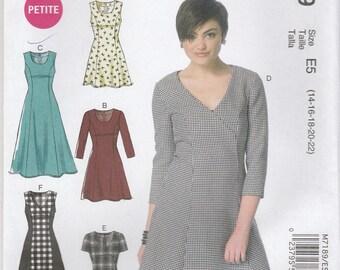 Fit & Flare Dress Pattern McCalls 7189 Sizes 14 - 22 Uncut