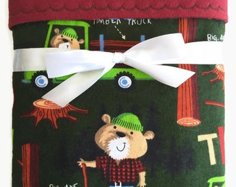 Flannel Baby Blanket - Blanket Boy - Receiving Blanket - Lumberjack Baby - Crib Blanket - Buffalo Plaid - Toddler Blanket - Baby Gifts Boys