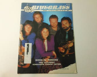 Bluegrass Unlimited Vol. 25, No. 9 (March 1991) - Good 'Ol Persons cover ~ vintage 90s Music Magazine back issue