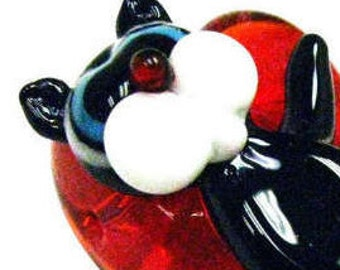 Lampwork Glass Novelty Cat Beads, Sizes around 49x32x19mm,  43x27x22mm