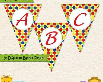 Music Birthday Banner • First Birthday • Toddler Birthday • Music Party • Alphabet Banner • Music Party Decorations • Printable • 014C