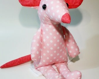 Valentina, the Pink Mouse Plush Doll 18in