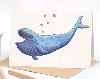 Trevor the Joyful Whale  - Greeting card