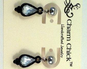 Black Metal Dangle Earrings