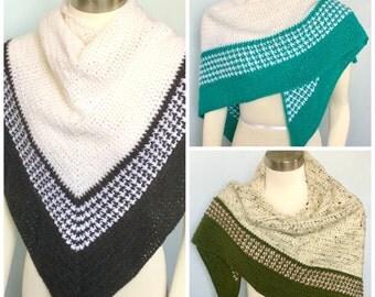Pattern only -Spectator Shawl pattern crochet pattern scarf shawlette