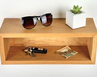 SALE! Floating Entryway Organizer / Mail Organizer / Wall Mounted Entryway Shelf / Entryway Storage / Entryway Key Holder