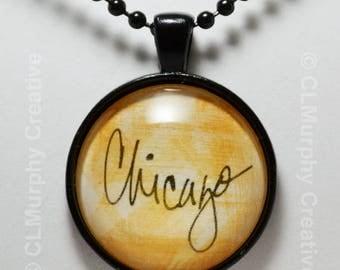 Chicago Illinois Necklace Pendant Chicago Jewelry C L Murphy Creative