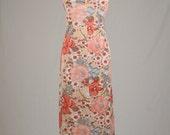1970s Handmade Floral Maxi.