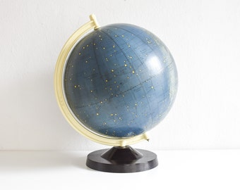 Vintage astronomy globe, sky map, star globe, astronomical map, 60s globe, GDR East German, Mid-Century modern home decor, 109