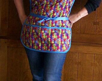 Puzzle Pieces Cobbler Apron - Jigsaw Teacher Apron - One Size