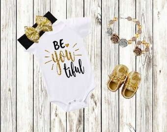 Baby Girl Outfits, Girl Clothing, Baby Girl Gift, Baby Girl Clothes, Newborn Toddler, Baby Girl Gift, Baby Shower Gift, Gold Black Girl