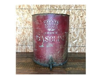 Vintage Red Crown Gasoline (Standard Oil) Fuel Drum