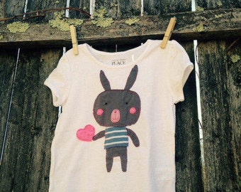 Love Bunny Kids T shirt Easter READY TO SHIP 4T