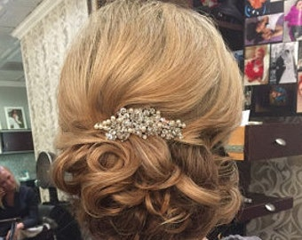 Pearl Bridal Wedding Comb,Boho Wedding Silver Hair Vine,Wedding hair comb,Wire Hair Comb,Boho Headpiece,Bridal hair piece,Wedding hair clip