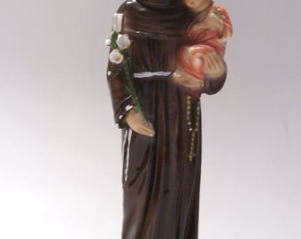 St. Anthony Padua and Child Plaster Statue Made in Italy by Columbia Statuary