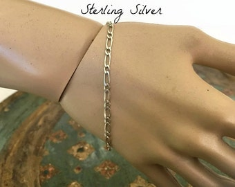 Vintage Italian Milor Sterling Silver Delicate Link Bracelet, Signed Milor Italy Silver Jewelry, Made in Italy