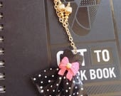 Fun Dress Charm Polymer Clay Clip Exclusively for Pink Bow Ties
