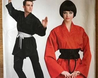 UNCUT Misses', Men's and Teen Costume Sewing Pattern Simplicity 0691 Size XS-XL Karate Gi, Splinter, Ninja, Kimono, Halloween, Cosplay, Sash