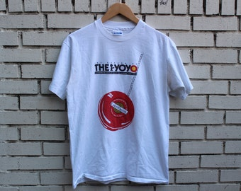 Vintage THE YO-YO Shirt The Return Of... Hanes Fifty Fifty tag Size L Large Made in U.S.A. Lakeforest Gaithersburg