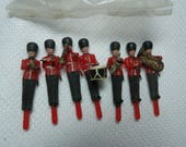Miniature Soldier, Vintage Cupcake Toppers, Craft Miniatures
