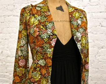 70s Floral Jacket - Fun, Colorful Piece