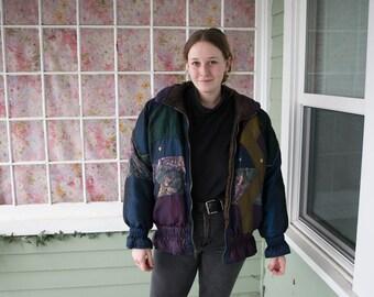 Vintage 80s 90s Puffy Jacket Parka Ski Jacket