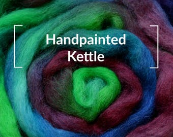Handpainted Kettle Dyed - Kettle Dyed Hand painted Spinning Fiber Tutorial