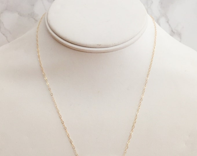 Dainty Semi-Precious Beaded Gemstone Necklace - Clear White Opalite