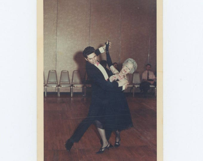 Vintage Kodacolor Snapshot Photo:Ballroom Dancers, Las Vegas, 1969 (75575)