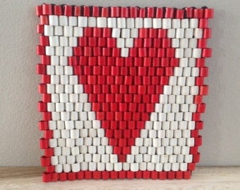 heart trivet coaster / Valentine's Day