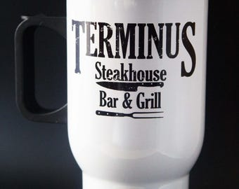 Terminus - Bar and Grill - The Walking Dead - Aluminium - Travel Cup