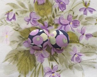 Button Earrings / Fabric Covered / Wholesale Jewelry / Made in USA / Hypoallergenic Earrings / Jewellry Handmade / Stud Earrings / Bulk