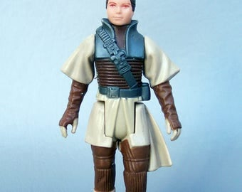 Vintage Star Wars Red Eyes No Coo Tri Logo Leia Boushh Bounty Hunter 100% Complete C8 Rare