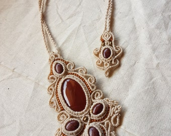 Carnelian & Red Jasper Necklace