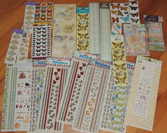 22 Packages Spring Assortment of Stickers Butterflies, Susan Branch