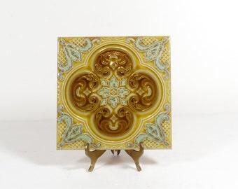 Italian Tile - Vintage Ceramic Tile La Campanella Sassuolo Italy - Italy Souvenir Decorative Tile