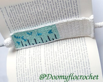 Textile Bookmark for nurses and book lovers