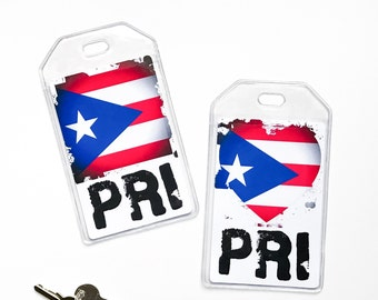 Puerto Rico Flag Luggage Tag, Puerto Rican Pride, Latino, Hispanic Heritage Gifts