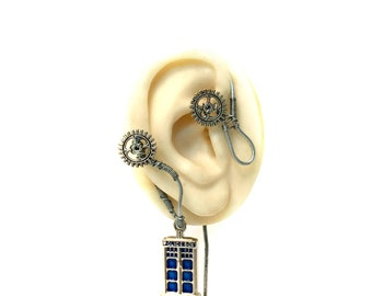 Steampunk Tardis Ear Wrap - Right Ear
