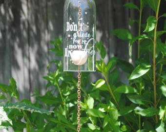 Rememberance Wine Bottle Wind Chime - In Loving Memory, Don't Grieve, Stars, Celebration of Life, Grief, Mourning, Stars