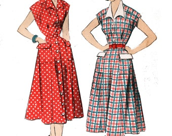 Advance 5780 Misses' Vintage 1950s Shirtdress Sewing Pattern