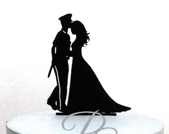 Wedding Cake Topper - Police officer and Bride Wedding