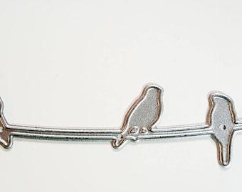 Carbon Steel Paper Cutting Die - Birds on Wire