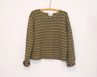 Multicolored Striped Pullover Sweater - Early 90s