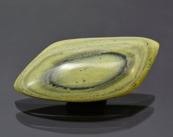 SALE EVENT! Lovely Green Banded Ricolite Cabochon from New Mexico 57.04 cts.